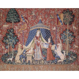 'Unicorn of Desire' Large Wall Tapestry
