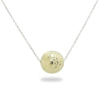 Gioelli 14k Two-tone Gold Diamond-cut Ball Necklace
