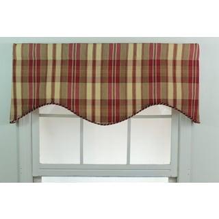 Stetson Plaid Garnet Cornice Window Valance