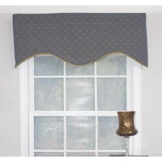 "RLF Home Sutherland Cornice 50"" Window Valance - Indigo"
