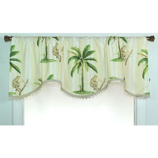 Las Palmas Monkey Cornice Window Valance