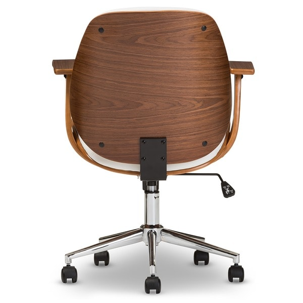 Baxton Studio Rathburn Walnut Modern Office Chair   Free Shipping Today    Overstock.com   15741769