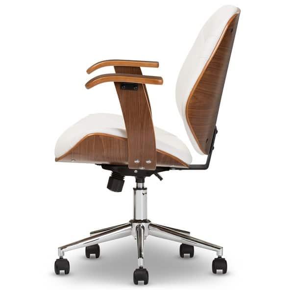Shop Baxton Studio Rathburn Walnut Modern Office Chair On Sale Overstock 8447993