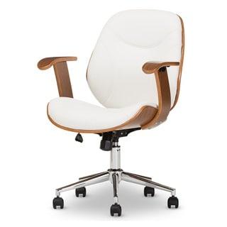 Baxton Studio Rathburn Walnut Modern Office Chair