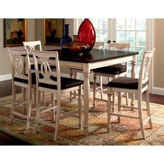 begonia two-tone 7-piece counter height dining set (set of 7