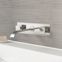 VIGO Titus Brushed Nickel Wall Mount Bathroom Faucet