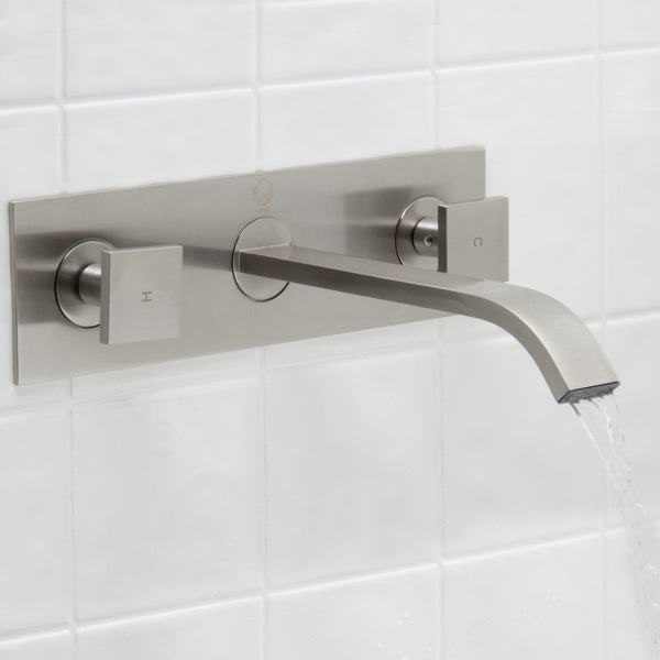 Vigo Titus Bathroom Wall Mount Faucet In Pvd Brushed