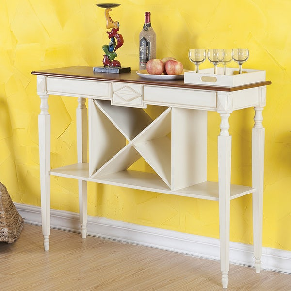 Overstock Console Tables Part - 18: Brunswick Wine Console Table by Elegant Home Fashions