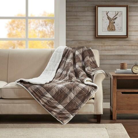Woolrich Lumberjack Softspun Down Alternative Filled Oversize Throw