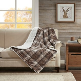 Woolrich Lumberjack Softspun Down Alternative Filled Oversize Throw