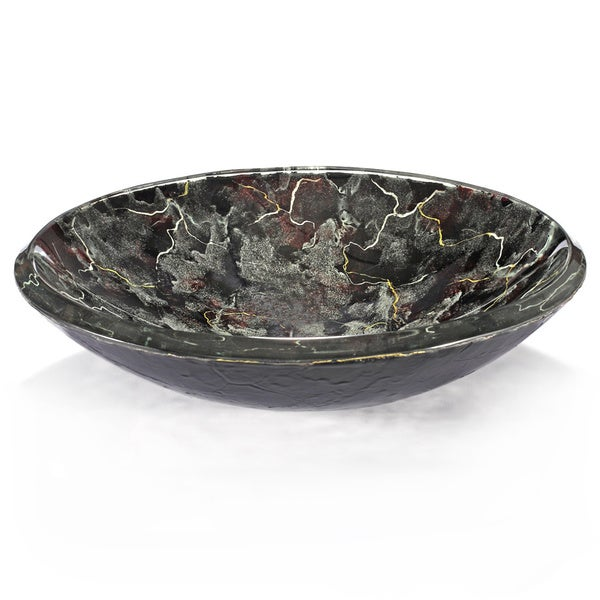 Black/ Grey Storm Glass Sink Bowl - Free Shipping Today - Overstock ...
