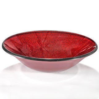 Red Ceramic Glass Sink Bowl