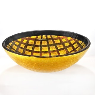 Chrome Motif Glass Vessel Sink Bowl