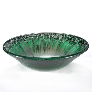 Frosted Glade Abstract Motif Glass Sink Bowl