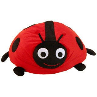 Beansack Red Ladybug Kids Bean Bag Chair Free Shipping