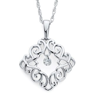 Boston Bay Diamonds Sterling Silver Floating Diamond Accent Filigree Necklace