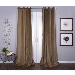 Lambrequin Tao Cotton Velvet 96-inch Curtain Panel