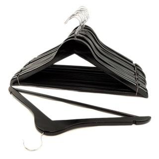 Black Wood Suit Hangers (Set of 16)