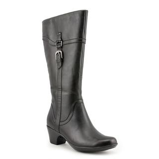 Clarks Women's 'Ingalls Vicky' Black Leather Boots