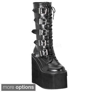 Demonia Swing-220 Women's Platform Mid Calf Boots