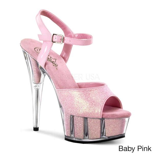 Pleaser Delight-609-5G Women's Ankle Strap Heels