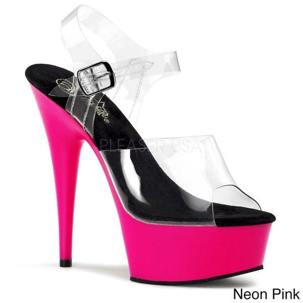 Pleaser 'Delight-608UV' Women's Ankle Strap Heels