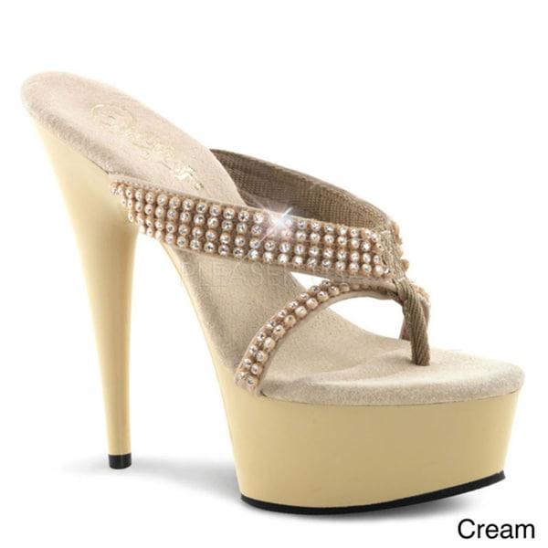 7b21cdbdf4 Shop Pleaser 'Delight-603-1' Women's 6-inch Heel Platform Heels ...