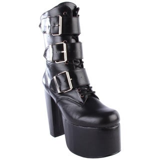 Demonia 'Torment-703' Women's Lace-up Ankle Boots