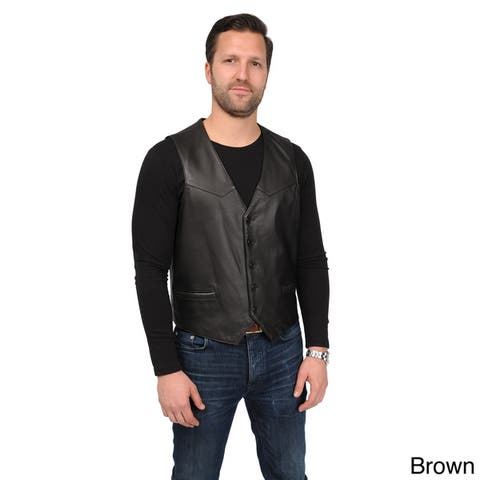 EXcelled Men's Leather Vest