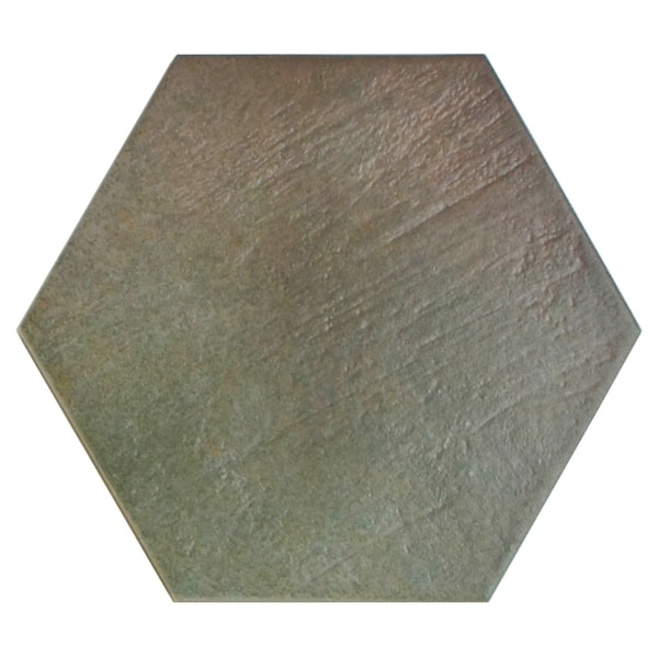 SomerTile 7x8-inch Hextile Matte Musgo Porcelain Floor and Wall Tile (Case of 14)
