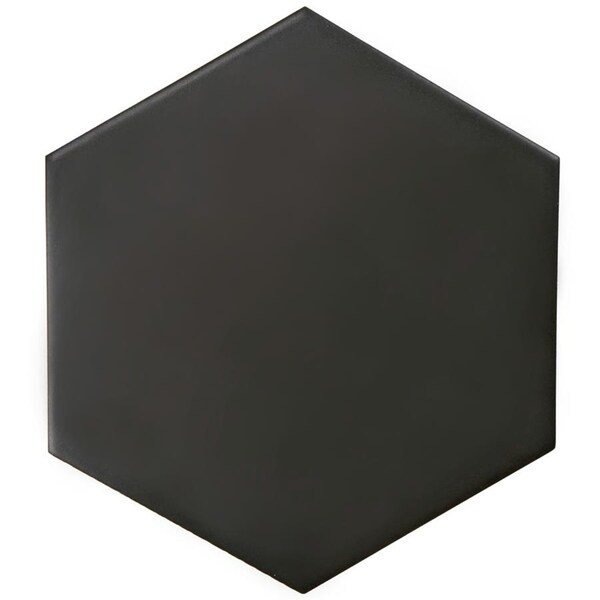Shop Somertile 7x8 Inch Hextile Matte Nero Porcelain Floor