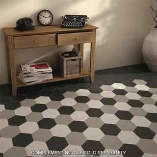 black and white floor tile kitchen. somertile hextile matte white porcelain floor and wall tile (set of 14) black kitchen