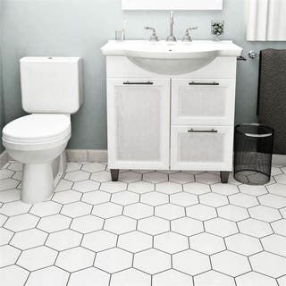 Somertile 7 X 8 Inch Hextile Glossy Blanco Ceramic Floor And Wall Tile Case