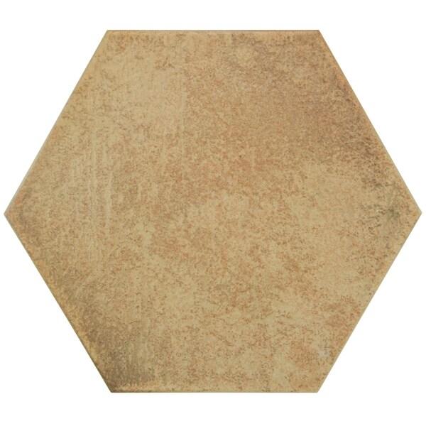 SomerTile 7x8-inch Hextile Matte Rodeno Porcelain Floor and Wall Tile (Case of 14)