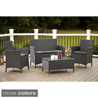 Cosco Outdoor Jamaica 4-piece Resin Wicker Conversation Set