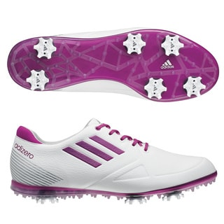 Adidas Women's Adizero Tour White/ Passion Golf Shoes