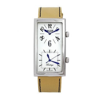 Tissot Women's Heritage T56.1.613.79 Beige Leather Swiss Quartz Watch with White Dial