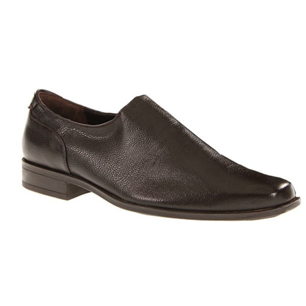 Calvin Klein Men's 'Malcolm' Brown Textured Leather Loafers