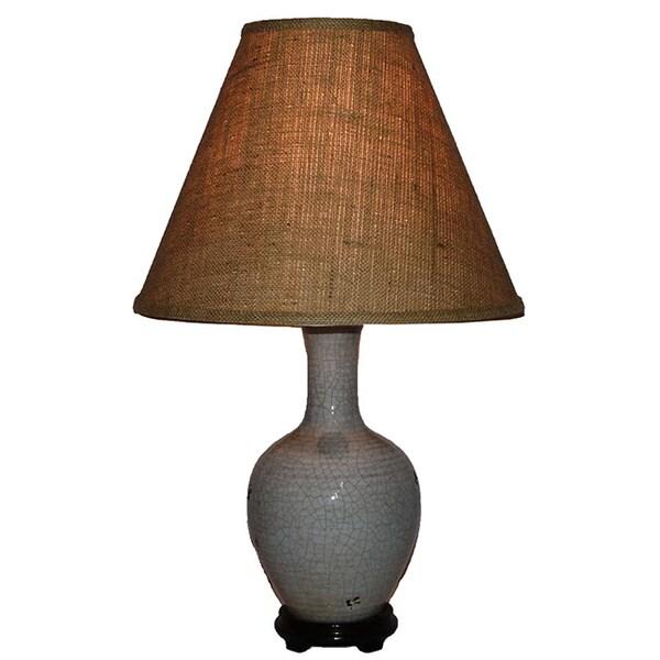 Crown Lighting 1-light Crackled Light Blue Porcelain Table Lamp