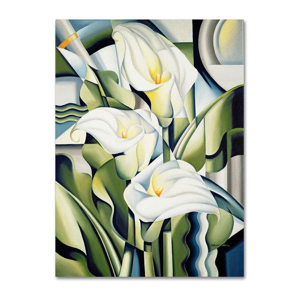 Catherine Abel 'Cubist Lilies 2002' Canvas Art