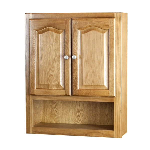 bathroom wall cabinet oak raised panel oak 2 door bathroom wall cabinet free 11832
