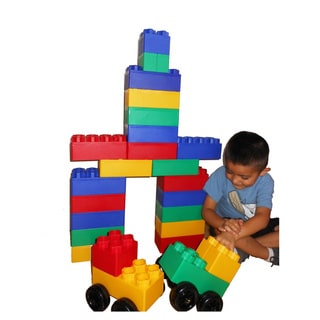 Jumbo Blocks Big City with Wheels 40-piece Play Set