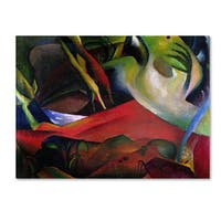 August Macke 'The Storm 1911' Canvas Art - Multi