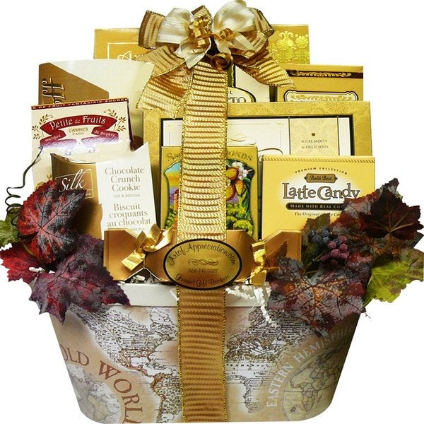Old World Charm Gourmet Food/ Snacks Gift Basket