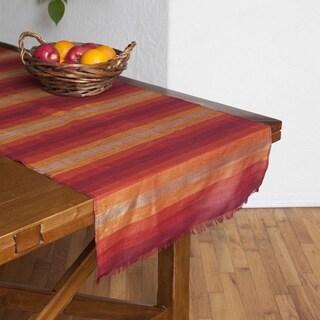 Handmade Hand-loomed Sunset Stripe Table Runner (Morocco)