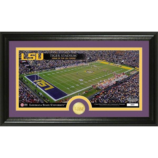 Louisiana State University Stadium Bronze Coin Panoramic Photo