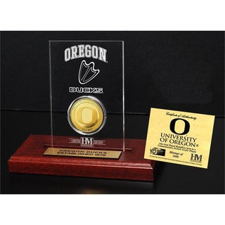 University of Oregon Gold Coin Etched Acrylic