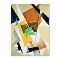 Lyubov Popova 'Composition 1921' Canvas Art - Multi