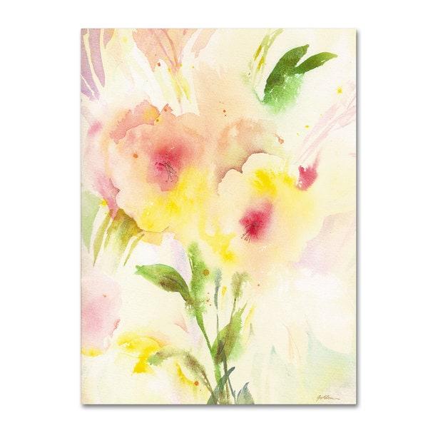 Sheila Golden 'Two Garden Flowers' Canvas Art