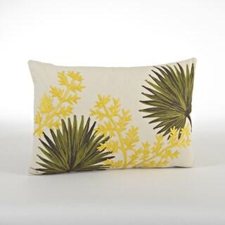 Fan Plant Design Throw Pillow